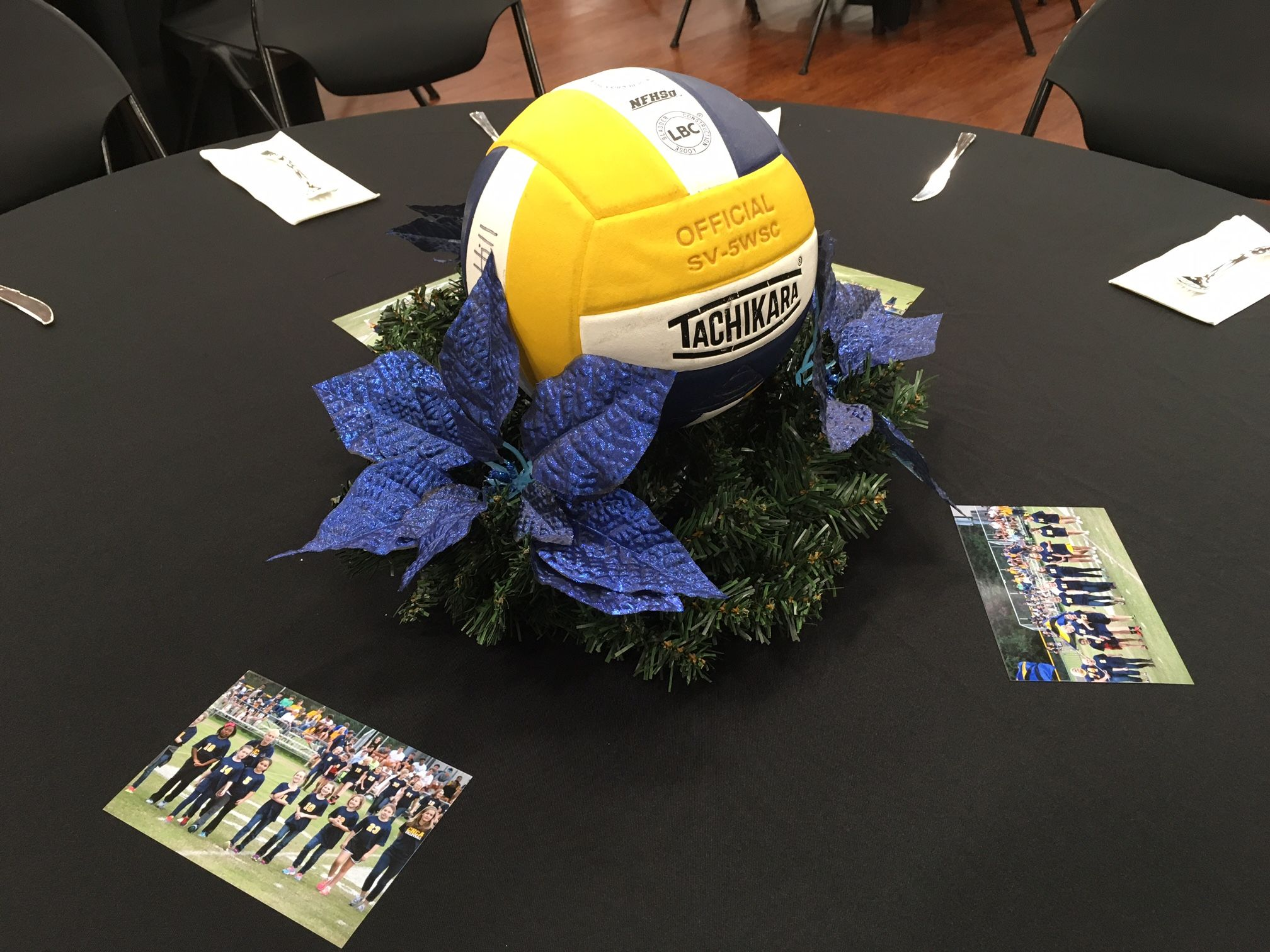 Volleyball Banquet Centerpiece Christmas Theme Banquet Centerpieces Christmas Themes Graduation Party