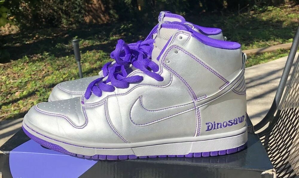 sale retailer 7ce94 a0c3b 2007 Nike Dunk High Premium SB Silver Purple Dinosaur Jr 313171-003 Size  10.5  fashion  clothing  shoes  accessories  mensshoes  athleticshoes (ebay  link)
