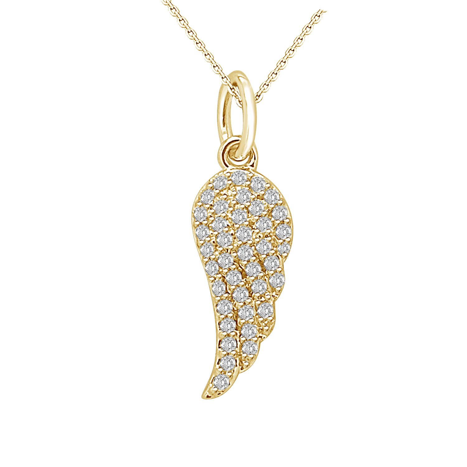 Diamond Angel Wing Pendant In Yellow Gold Diamond Angel Wings Diamond Angel Angel Wing Pendant
