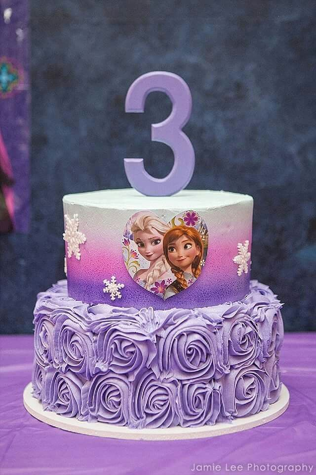 Frozen Elsa And Ana Birthday Cake Birthday Cakes Pinterest