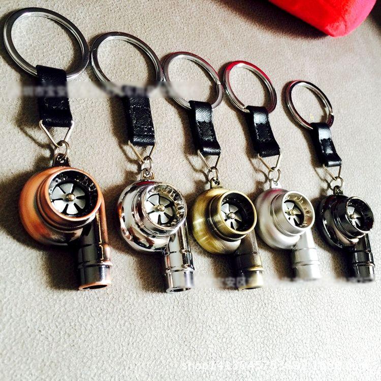 Reale Fischio Sound Turbo Keychain Sleeve Bearing Spinning Parte Auto Modello di Turbina Turbocharger Anello Portachiavi Keyfob Portachiavi 2 #