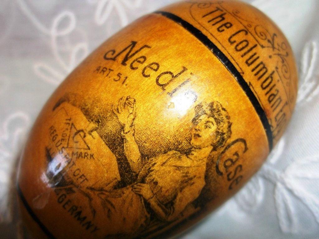 The Columbian Egg Needle Case