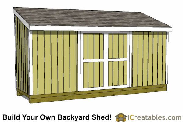 5x12 Lean To Shed Plans With Doors On Low Side And End Small Shed Plans Lean To Shed Plans Shed Design