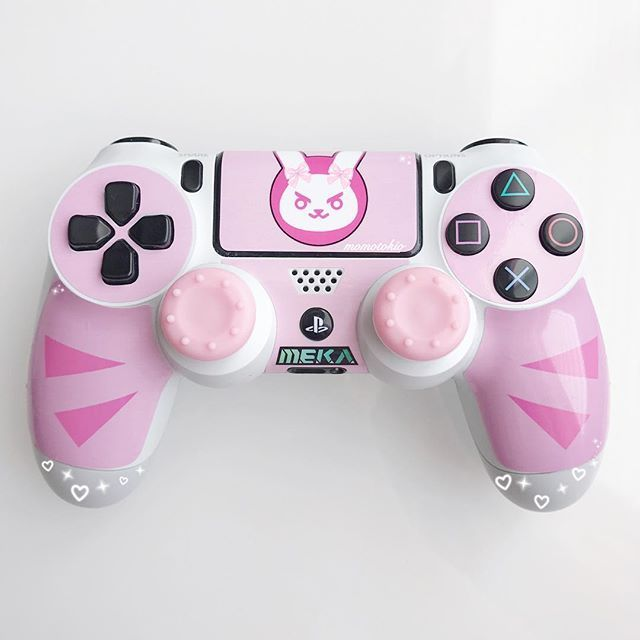 My D.va Ps4 Controller Is THEEEE Cutest !! ( ˙-˙=͟͟͞͞