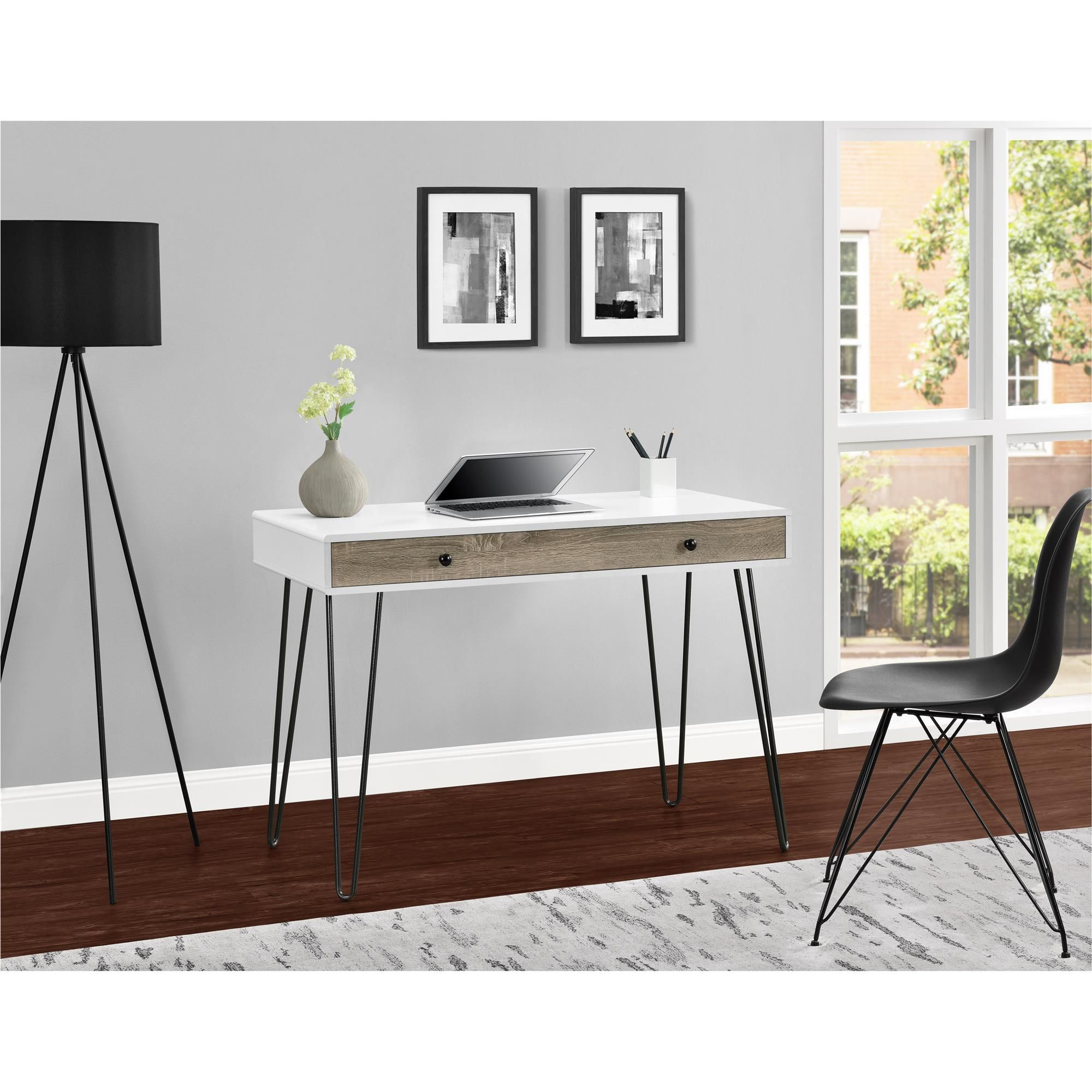 Simplicity And Functionality Come Together In The Ameriwood Home Owen Retro Student Desk The Slender Silhouette A Desk With Drawers Retro Desk Altra Furniture