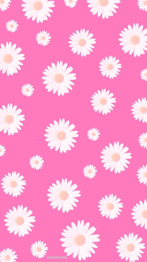 Daisy pattern wallpaper - photo#45