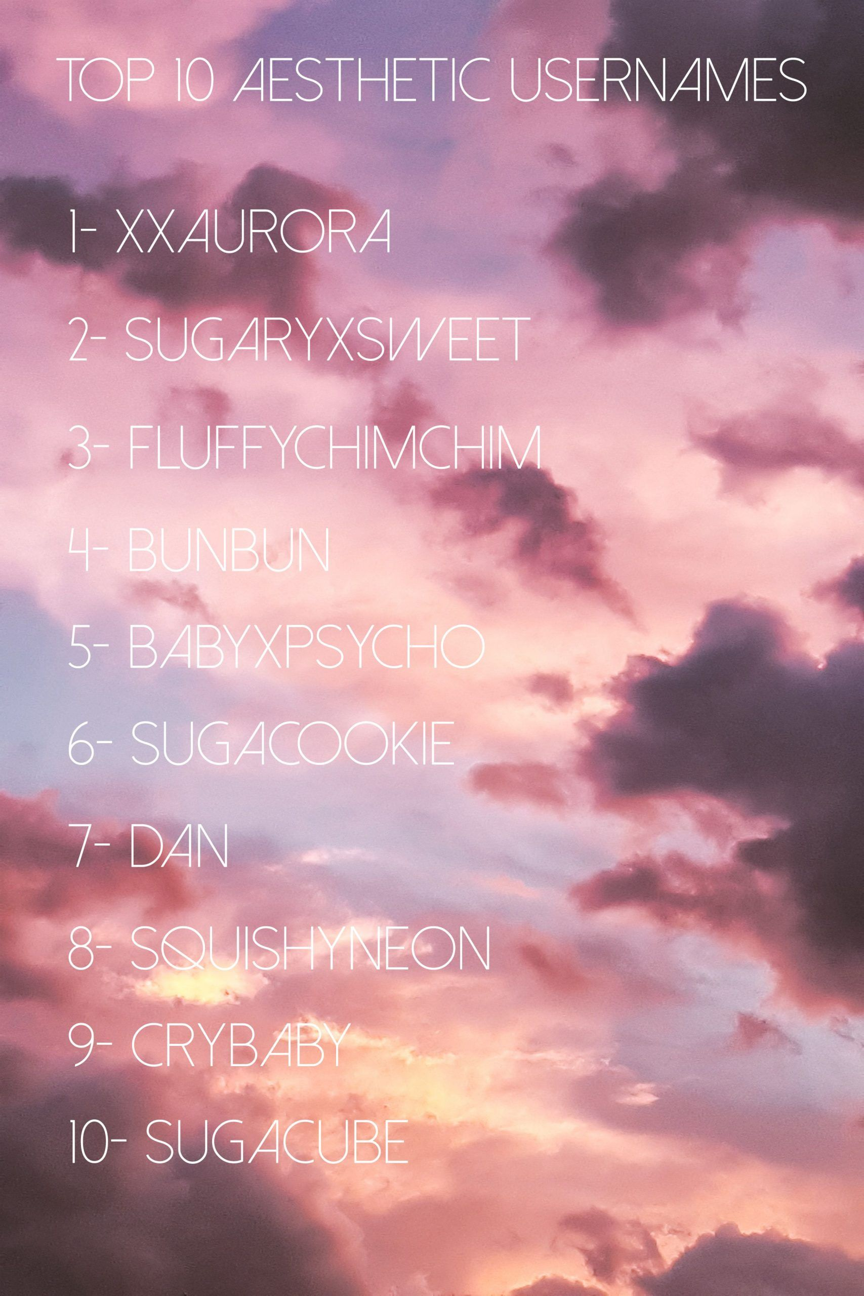 Aesthetic Names Which Are Trending Aesthetic Names Trending Aesthetic Usernames Cool Usernames For Instagram Usernames For Instagram