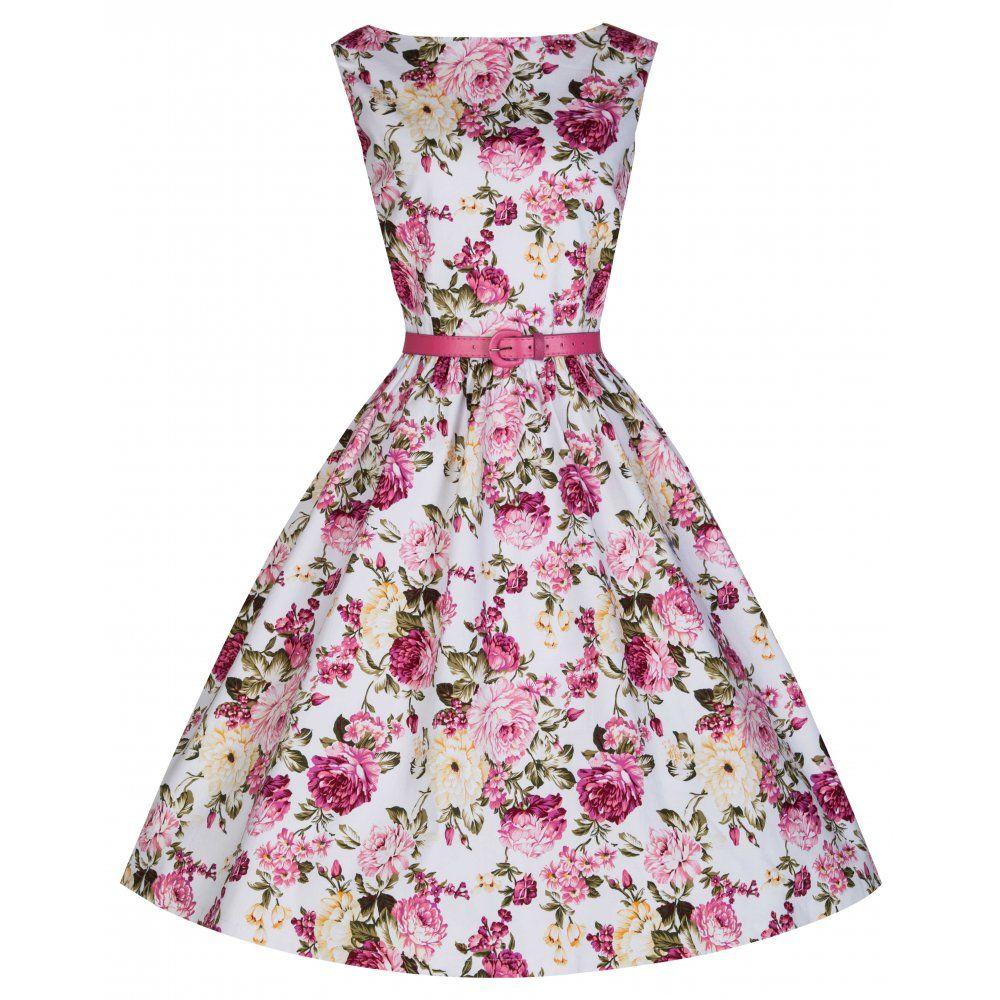 Audrey' Pink Rose Print Swing Dress | Vintage inspired, Vintage ...