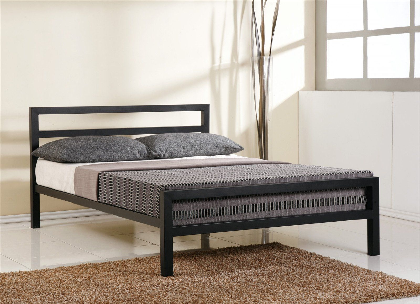 Extra Strong Metal Block Bed with Mesh Base Reinforced