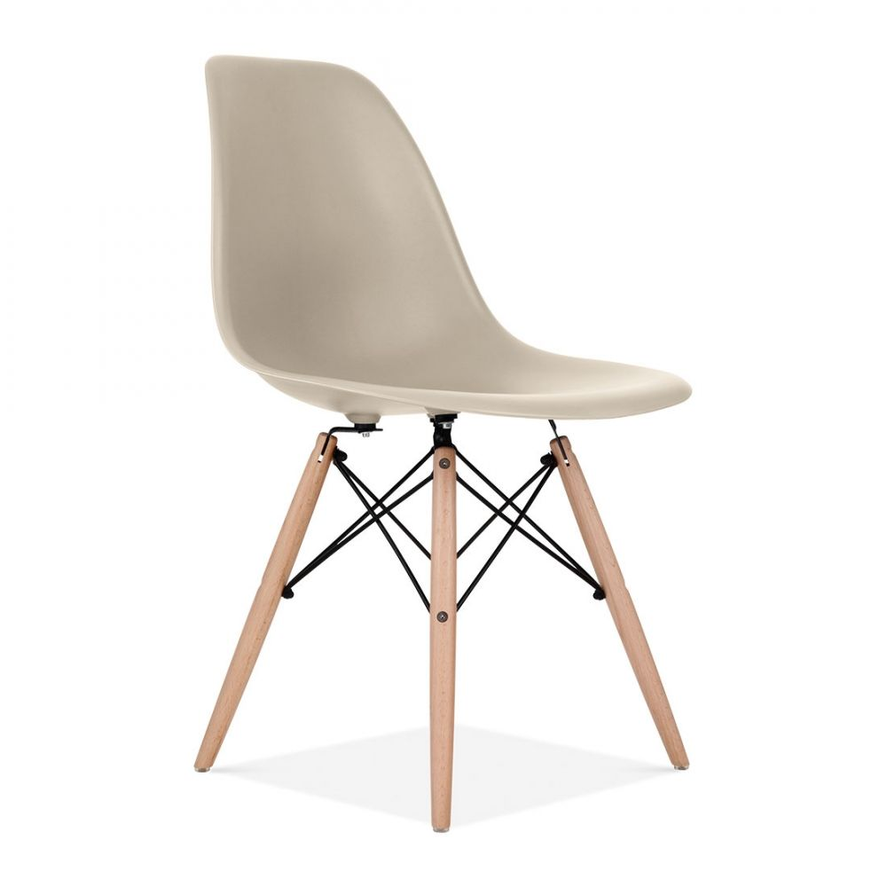 Iconic Designs Dsw Style Plastic Dining Chair Beige Plastic
