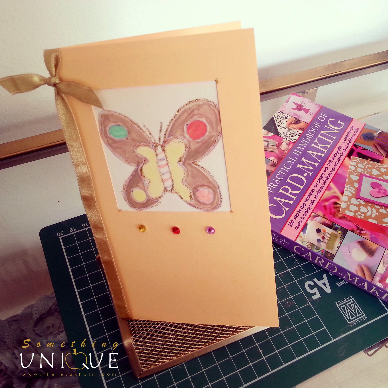 كرت بسيط مناسب لمناسبات متعدده هاند ميد Simplecard أفكار كروت Card Making Gift Wrapping Cards