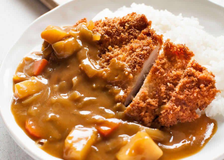 katsu curry japonais au poulet au thermomix recette. Black Bedroom Furniture Sets. Home Design Ideas