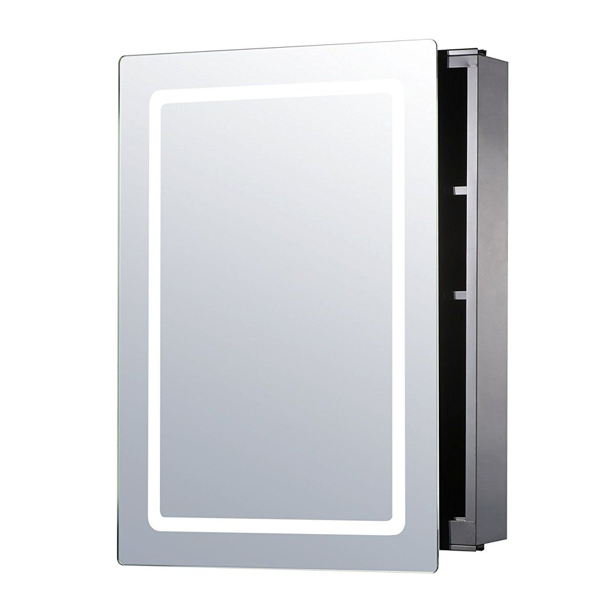 Led mirror medicine wall cabinet bathroom mirror cabinet with