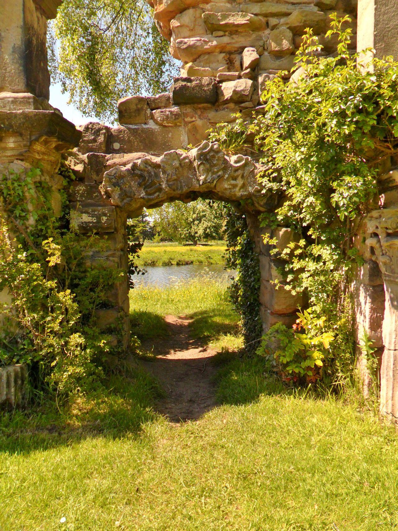 Greek Ruin style Garden Folly, Shugborough Hall, England (All ...