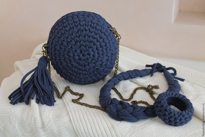 0659c732fd70 вязаная круглая сумочка крючком из трикотажной пряжи: 16 тыс изображений  найдено в Яндекс.Картинках