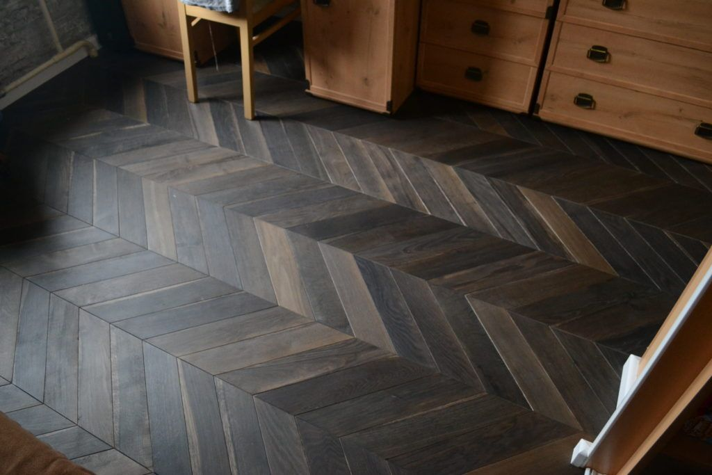 Deep Smoke Smoked Oak Chevron Parquet Floors Wood Flooring Supply