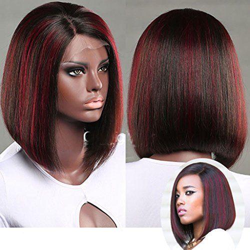 Zana Natural Human Hair Bob Style Short Lace Front Wigs For Black Women Https Www Amazon Com Natur Short Lace Front Wigs Lace Front Wigs Wigs For Black Women
