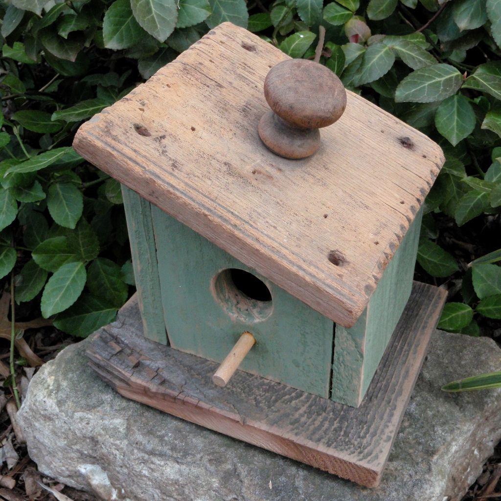 Tip Your Hat Antique Lid Birdhouse Bird Houses Painted Bird House Kits Bird House