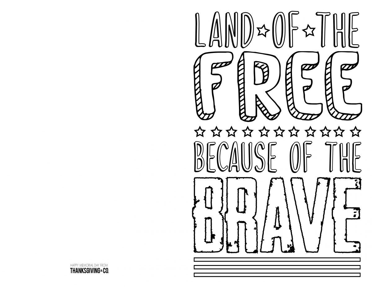 Free Memorial Day Coloring Pages Amp Cards You Can Print At