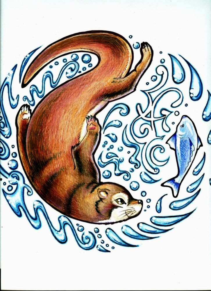 otter art.   I have to do something like this...