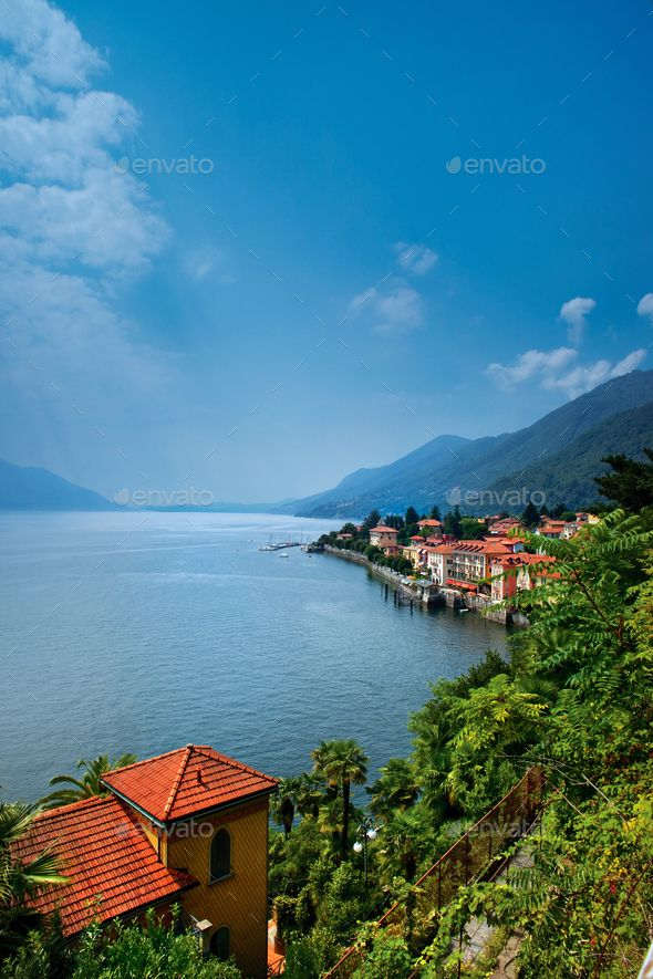 Lake Maggiore. by FisherPhotostudio. Aerial view of Lake