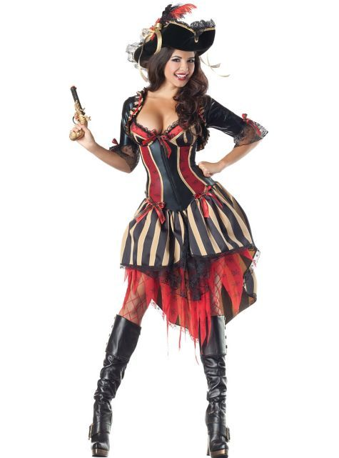 I can use my teal halloween wench costume with tall black