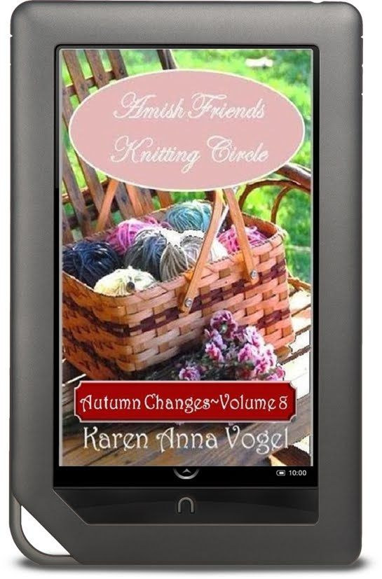 "My Helping Hands Press: Karen Anna Vogel - ""Amish Friends Knitting Circle - Volume 8 - Autumn Changes"""