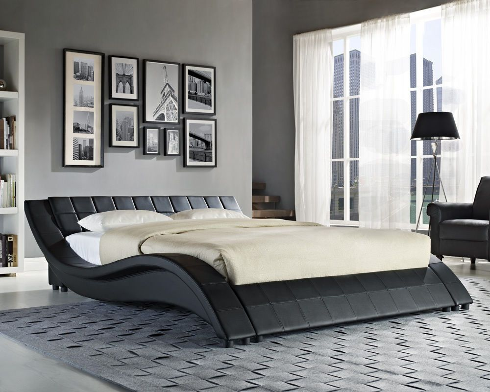 King Size Bed And Mattress Set White bed frame, King bed