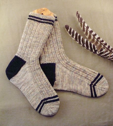Men\'s Twin Rib Knit Sock Pattern - free knit | Head Fingers and Toe ...
