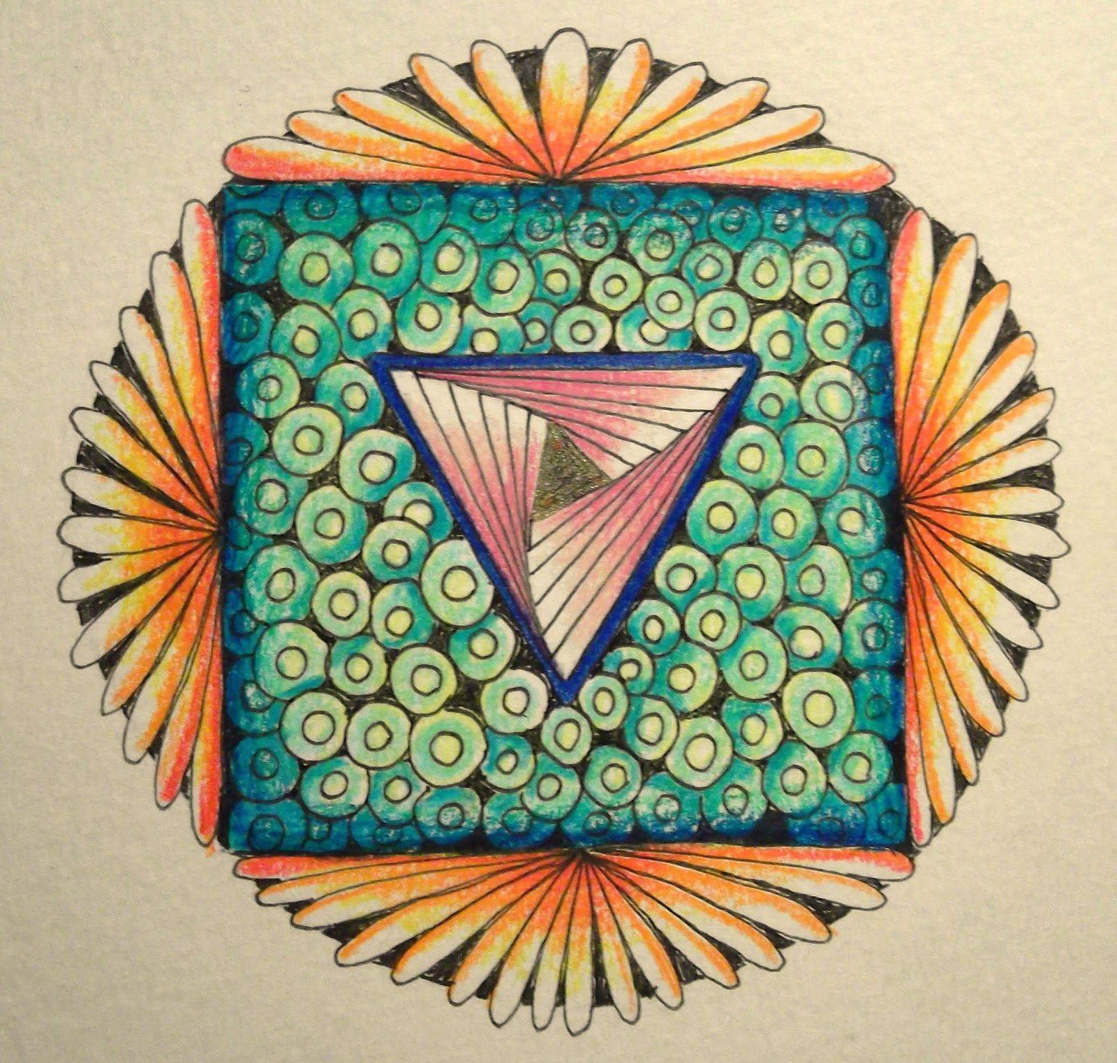 zentangle mandala | Tekenpraktijk De Innerlijke Wereld: Zentangle