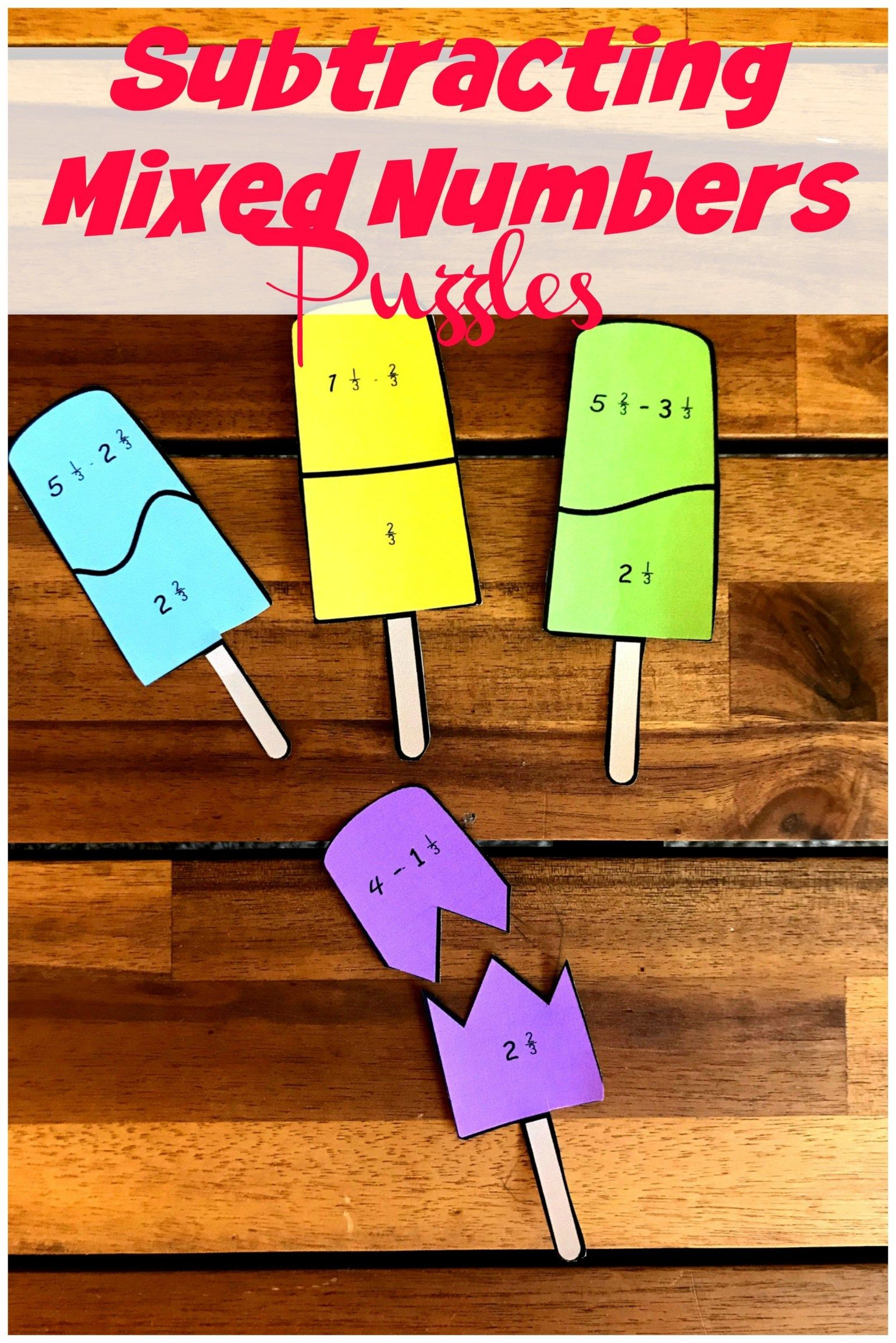 Free Exciting Subtracting Mixed Numbers Activity