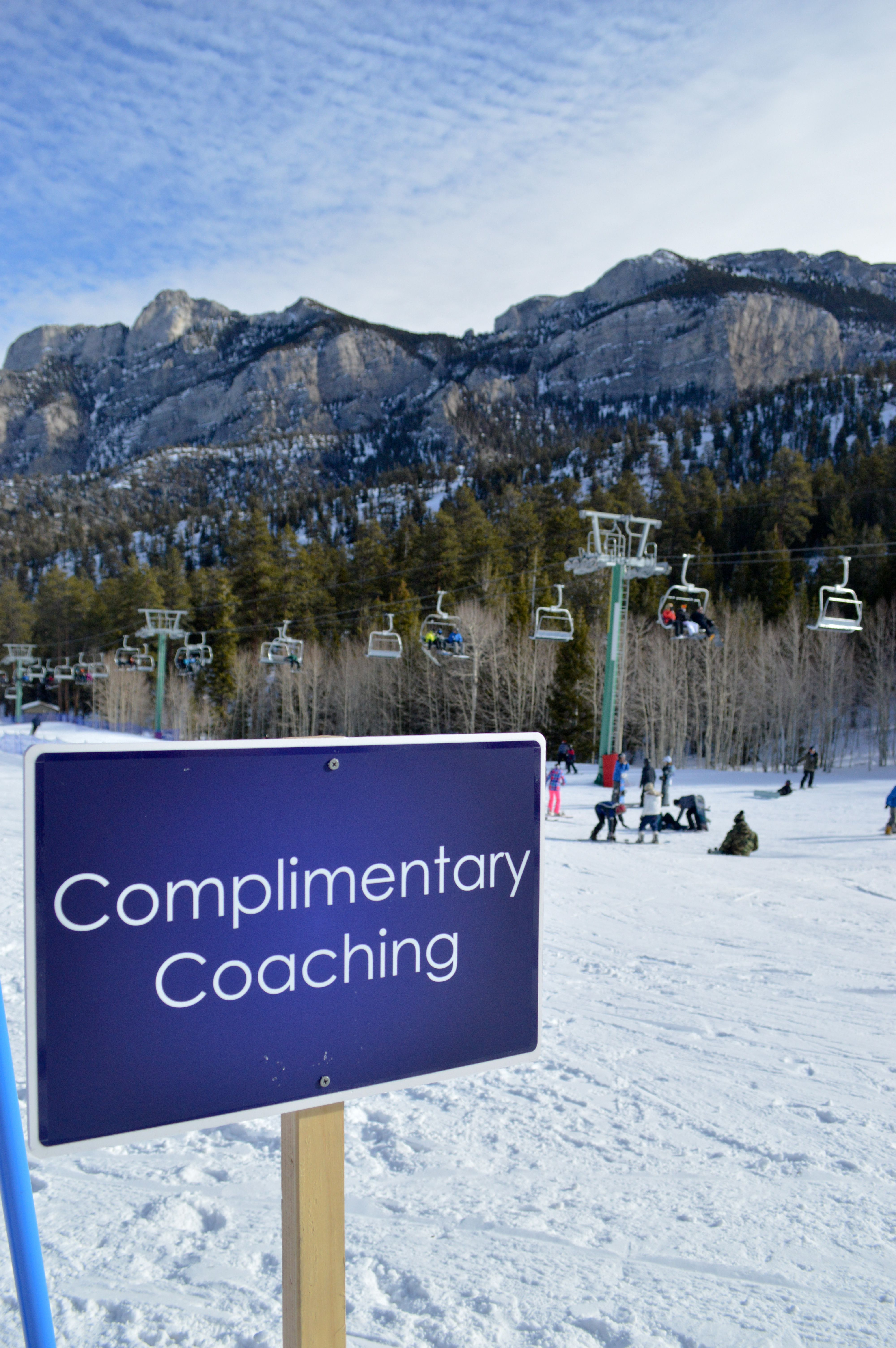 complimentary coaching at las vegas ski and snowboard resort! lee