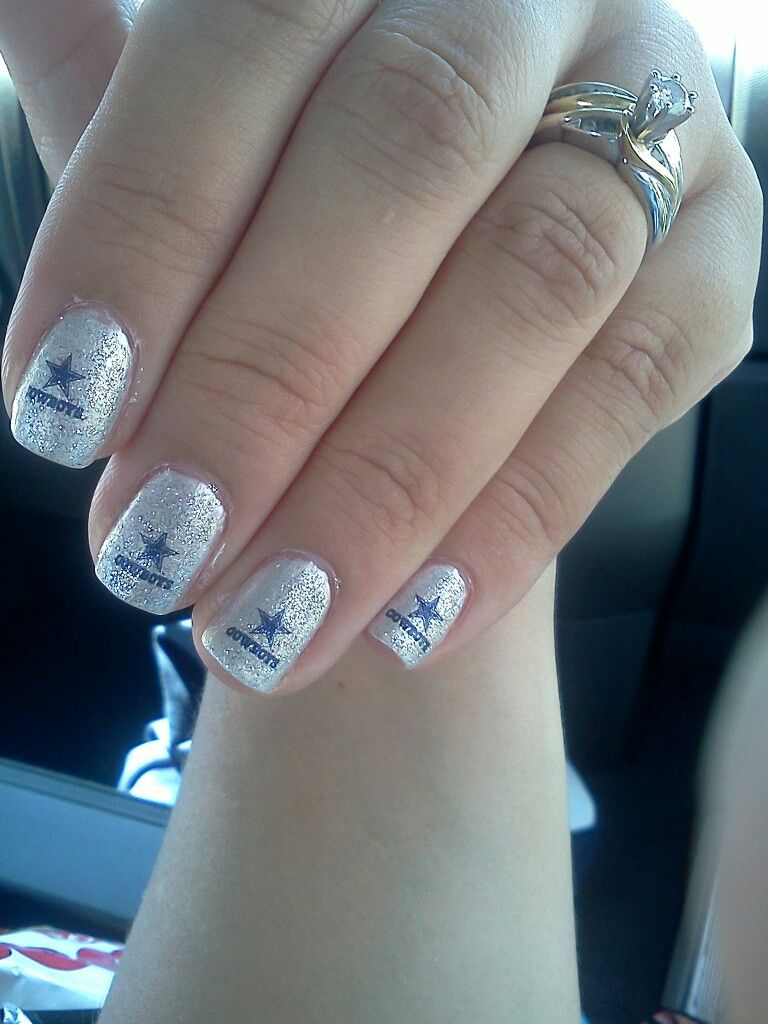 Dallas Cowboys nails | Hair & makeup | Pinterest | Dallas cowboys ...