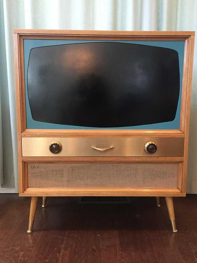 Modern Living Room Lcd Tv Stand Wooden Design Fa18b: I Built A MCM Television Cabinet For A Flatscreen TV