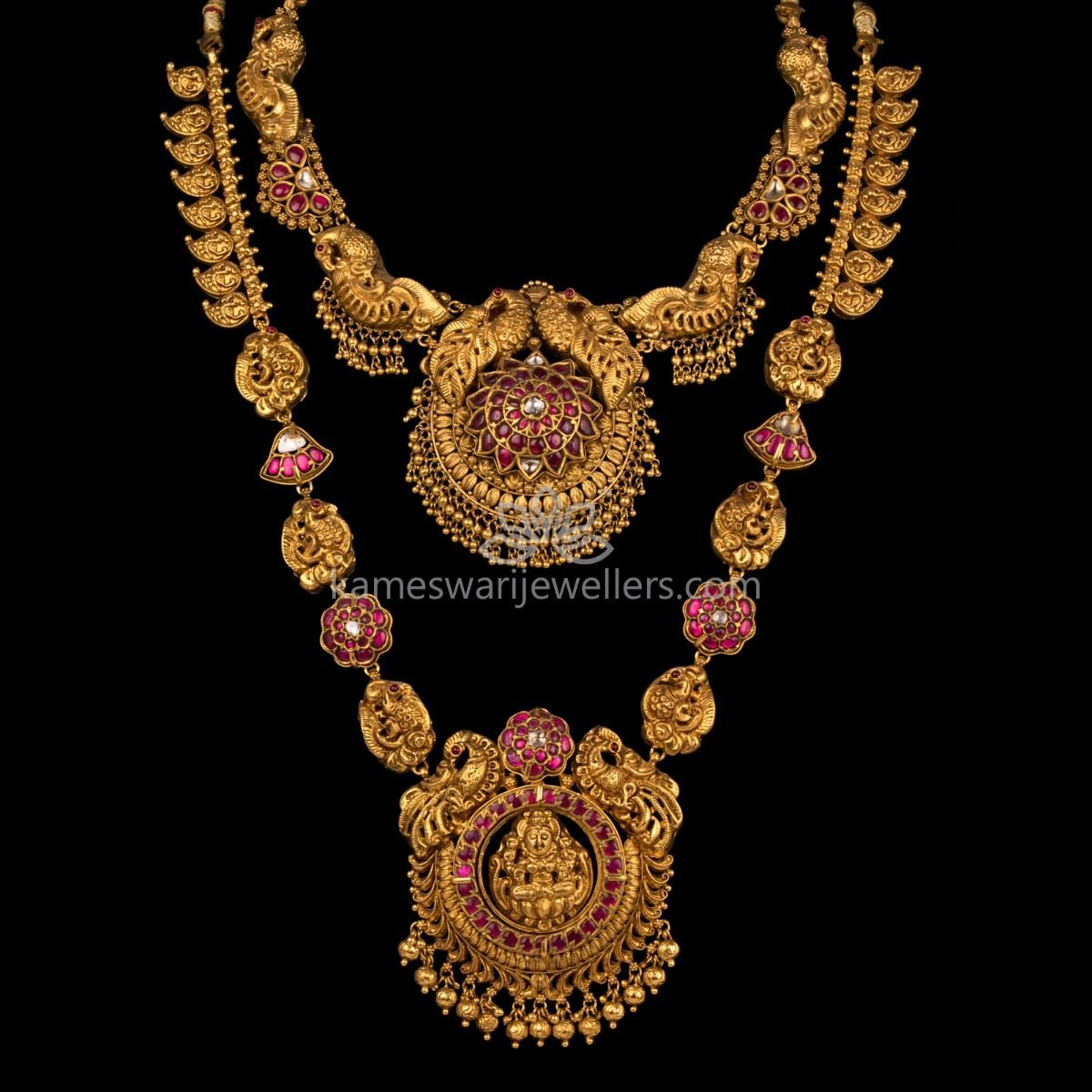 Buy Traditional Necklaces Online At Kameswari Jewellers In India Gold Necklace Indian Bridal Jewelry Antique Jewelry Indian Gold Necklace Designs