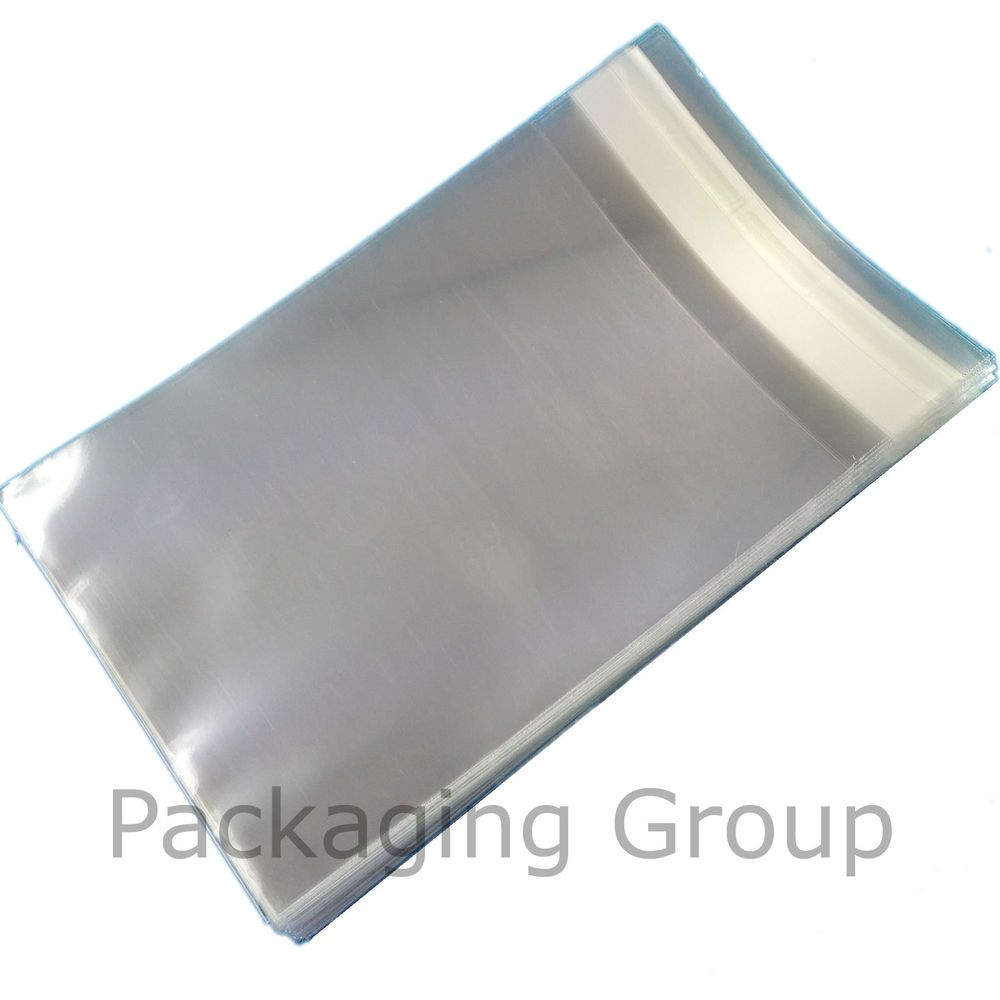 250 145mm X 140mm Square Cello Cellophane Bags for Cards - Clear Cello