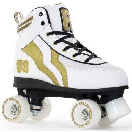rio roller varsity quad patins roulettes blanc dor uk 5 eu 38 wish list pinterest. Black Bedroom Furniture Sets. Home Design Ideas