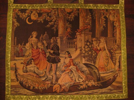 Vintage Antique Tapestry Wall Hanging