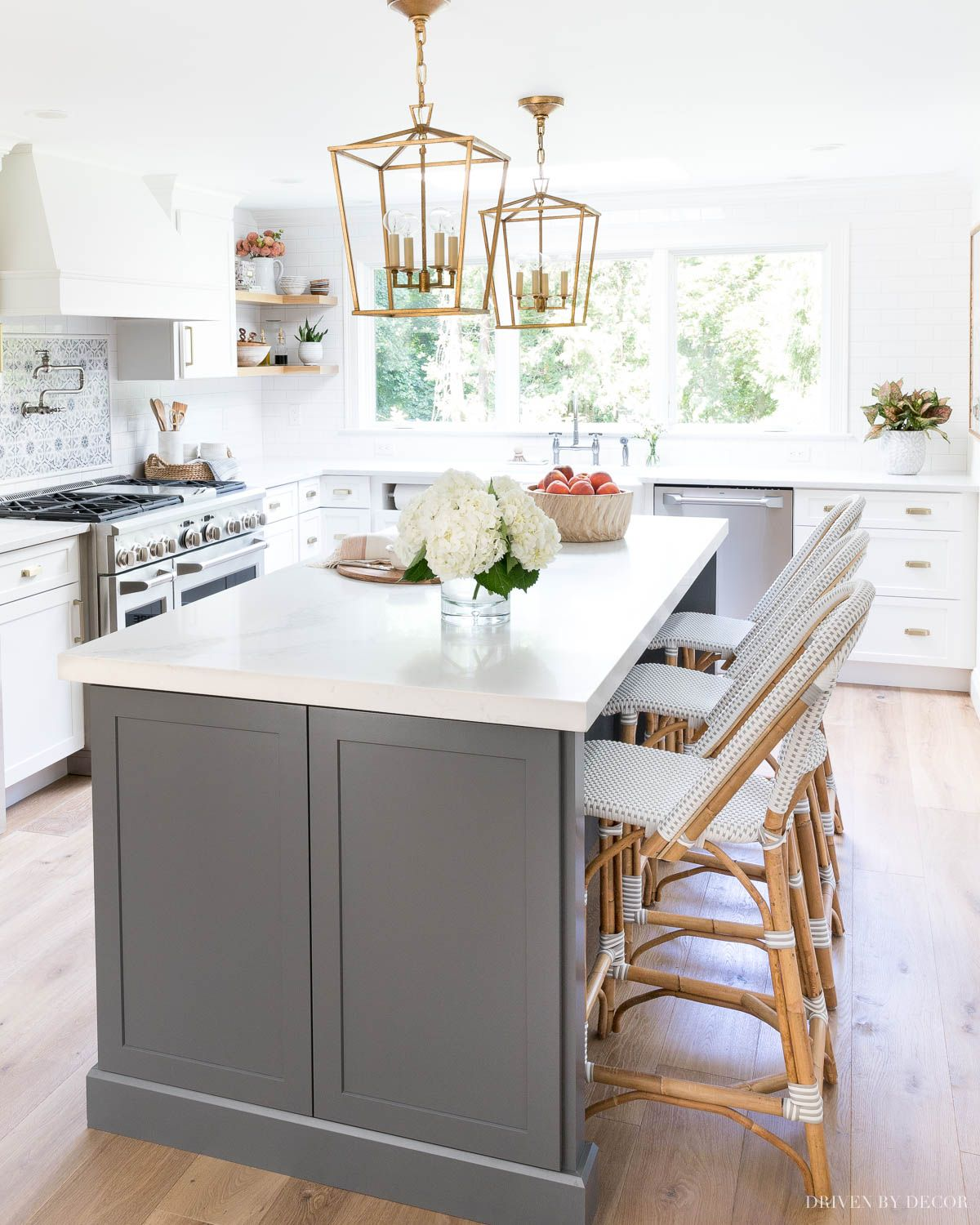 Kitchen Counter Stools 101 4 Must Know Things To Look For My Favorite Picks Driven By Decor In 2021 Kitchen Remodel Small Newly Remodeled Kitchens Gray And White Kitchen