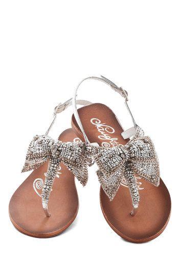 ModCloth | Sparkle sandals, Crazy shoes