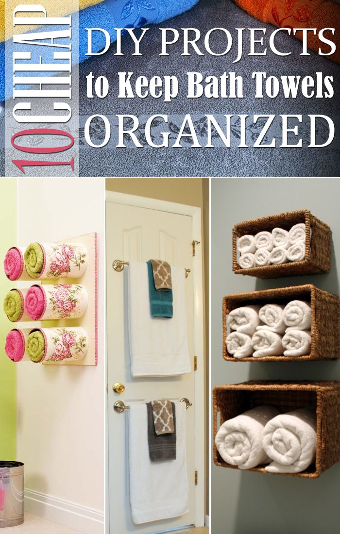 10 Cheap Diy Projects To Keep Bath Towels Organized With Images