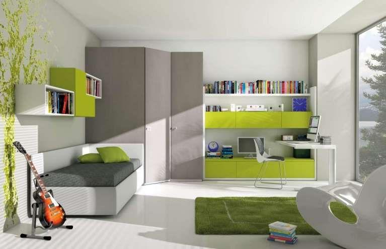 Cameretta verde ~ Camerette moderne per bambini e ragazzi cameretta moderna verde