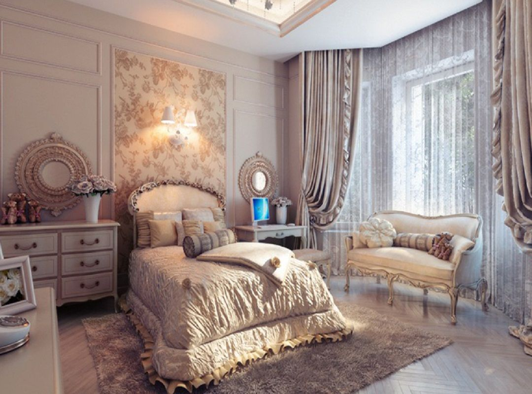 Vintage bedroom designs - Bedroom Designs Traditional Cream Bedroom 2013 Charming Sofa Bed Cover Fur Rug Fabric Laminate Flooring Amazing Bedrooms With Traditional Elegance