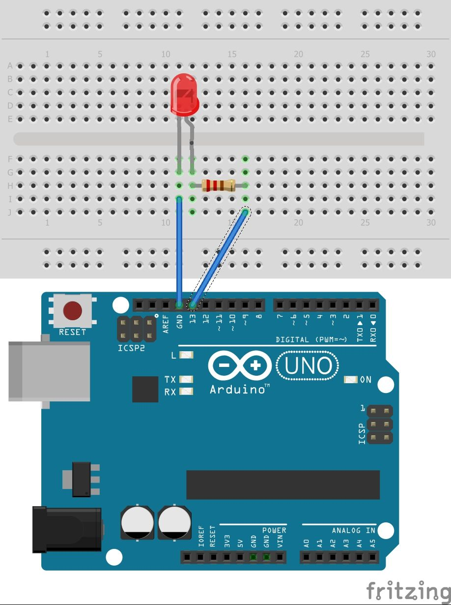 How To Control An Led With Arduino Using A Resistor 64 Et Wiring Diagram And Components Required 1 Uno 2 Male Jumper Wires 3 Breadboard 4 Light Emitting Diodes 5