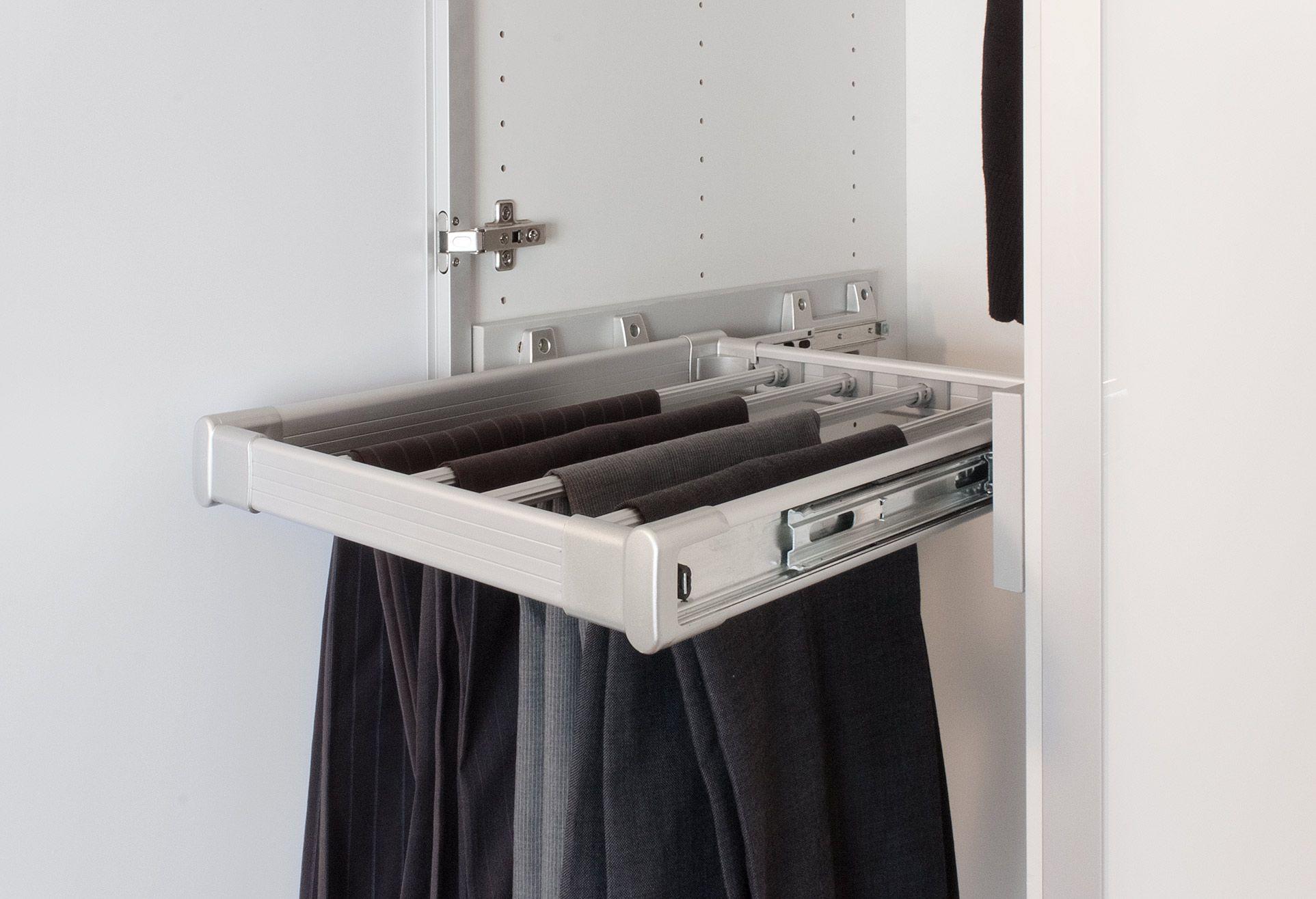 Slide out trouser rack for flatpax wardrobe wardrobeinterior
