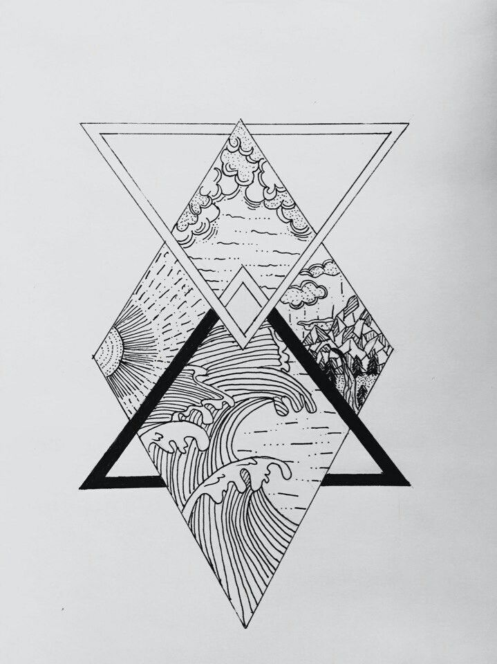 Geometrisches Tattoo – (notitle   – cool drawings