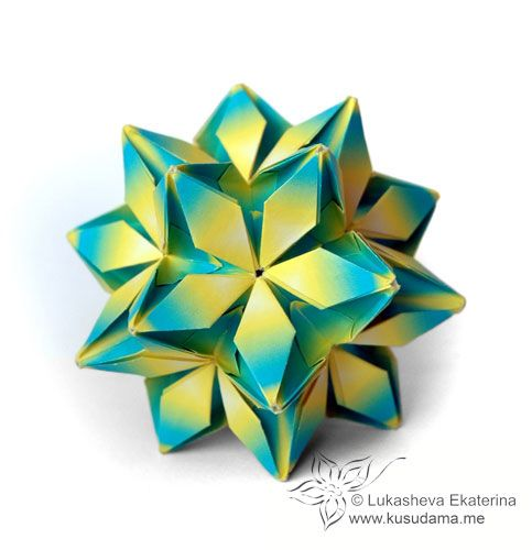 How to Make a Kusudama | Origami - YouTube | 500x483