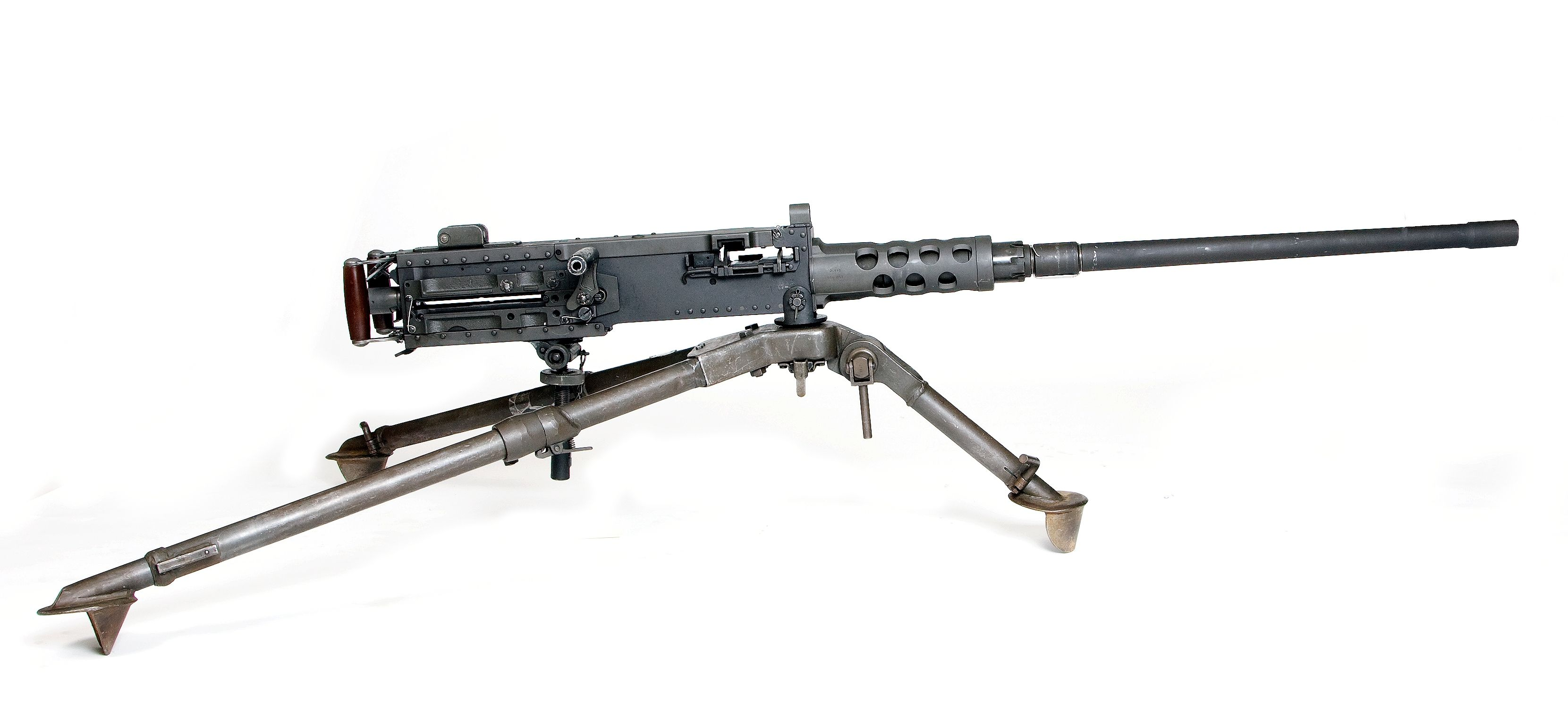 Browning 50 Cal Machine Gun With Armor Piercing Rounds Like The