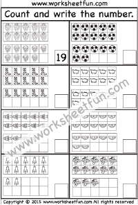 Numbers 1-20 – Two Worksheets | Outdoors | Pinterest