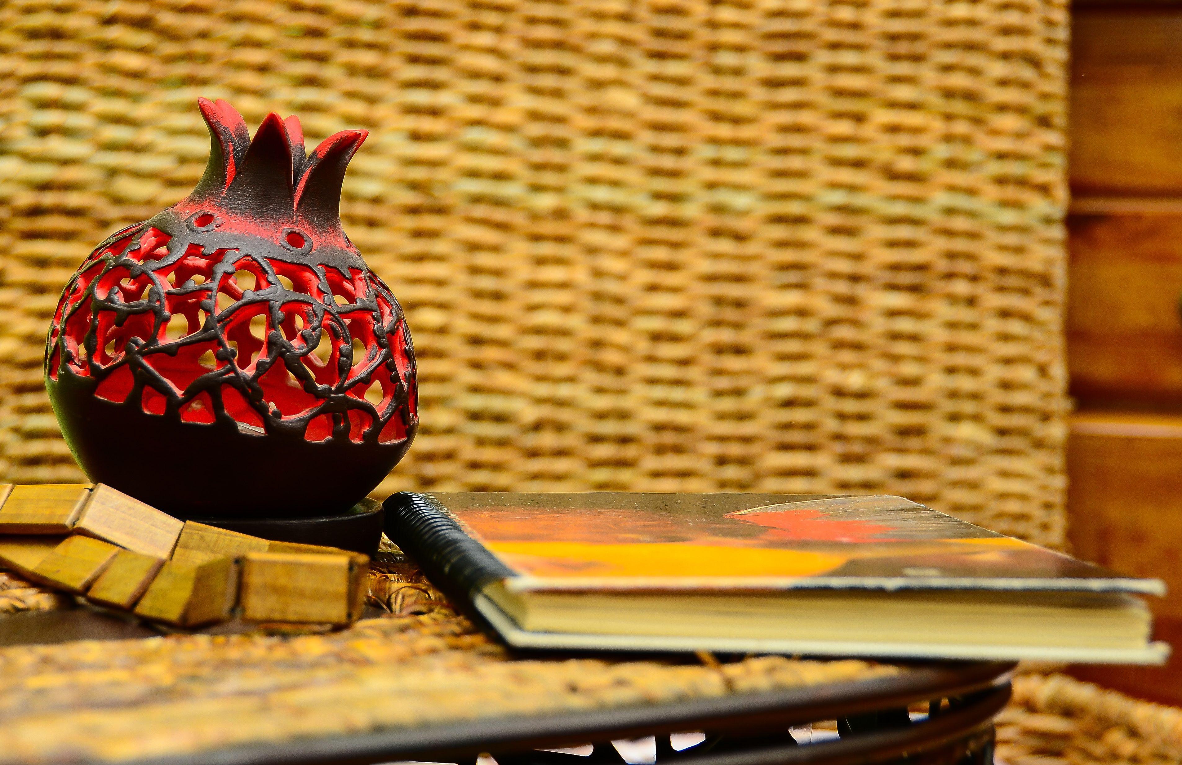 Armenian Pomegranate With Armenian Traditional Symbols Armenian